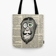Detective Monkey Head Tote Bag