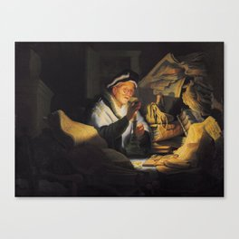 Rembrandt - The Parable of the Rich Fool Canvas Print