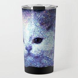 Cat white glitter Travel Mug