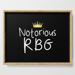 Notorious RBG Serving Tray