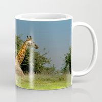 giraffes Mugs featuring Giraffes by Julie Hoddinott