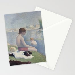 Bathers at Asnières Stationery Cards