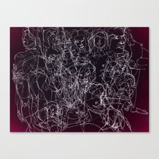 scribblesheet one red Canvas Print