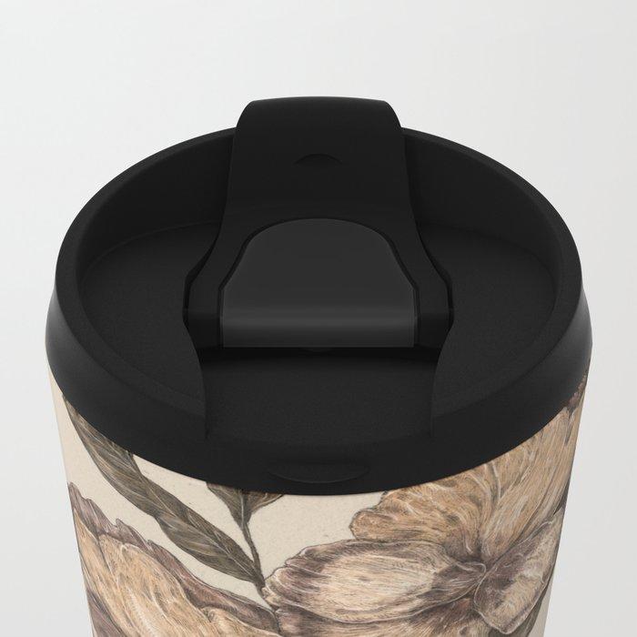 Pansy Metal Travel Mug