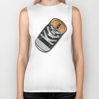 vans Biker Tanks featuring Cute black Vans all star baby shoes apple iPhone 4 4s 5 5s 5c, ipod, ipad, pillow case and tshirt by Three Second