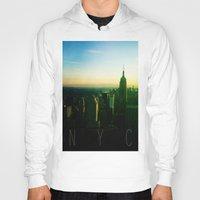 nyc Hoodies featuring NYC by Tristan Tait