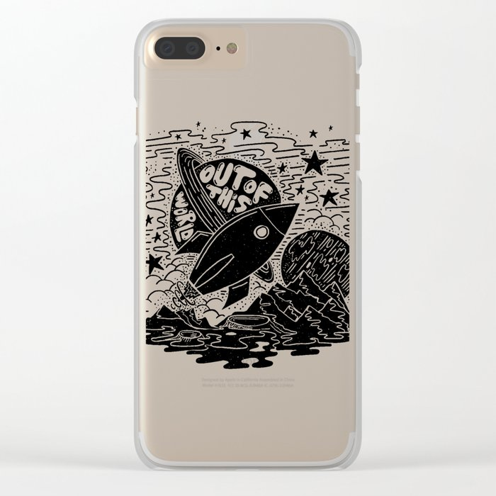 Out of this world Clear iPhone Case