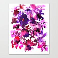 Sara Floral Pink Canvas Print