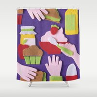 breakfast Shower Curtains featuring Breakfast by Jacopo Rosati