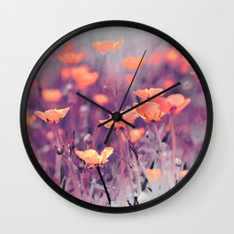 Summer Meadow Wall Clock