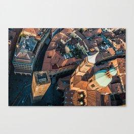 Piazza Ravegnana Canvas Print