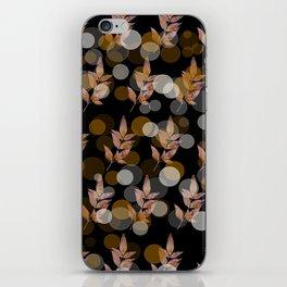 Pink leaves iPhone Skin