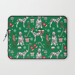 Dalmatian dog breed christmas holiday presents candy canes dalmatians dogs Laptop Sleeve