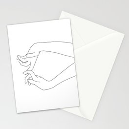 Hands line drawing - Robin Stationery Cards
