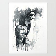 brian molko (smoking) Art Print