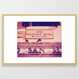 Italian Sign In Venice Fine Art Print Framed Art Print