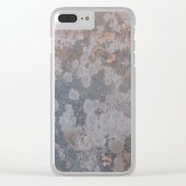 Grunge old metal rusty surface Clear iPhone Case
