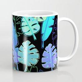 tropic leaves pattern (monstera and the bird of paradise) Coffee Mug