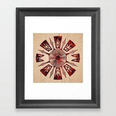 dashása redstone mandala Framed Art Print