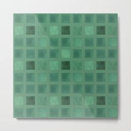 Colorful geometric pattern grunge Tile . Green emerald color . Metal Print