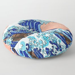 The Great Wave of Kanagawa Floor Pillow