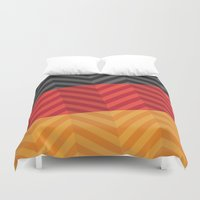 germany Duvet Covers featuring Germany Flag by m. arief (mochawalk)