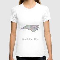 north carolina T-shirts featuring North Carolina map by David Zydd