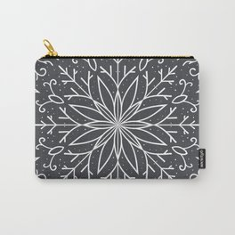 Single Snowflake - dark gray Carry-All Pouch