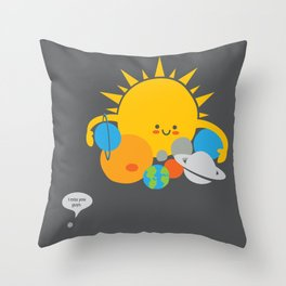 Hugs are for Planets Only Throw Pillow