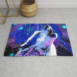 WOLF MOON AND SHOOTING STARS Rug