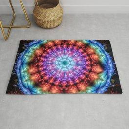 Plasmagoria - Kaleidoscopic Mandala Rug