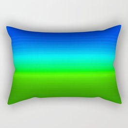 Blue Sky Green Grass Deconstructed (blue to green ombre gradient) Rectangular Pillow