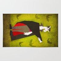 dracula Area & Throw Rugs featuring Dracula Unicorn by That's So Unicorny