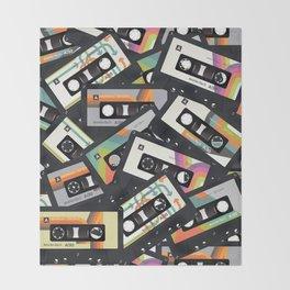Retro Vintage Cassette Tapes Throw Blanket