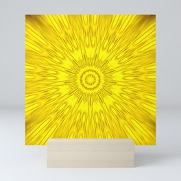 Yellow Mandala Explosion Mini Art Print