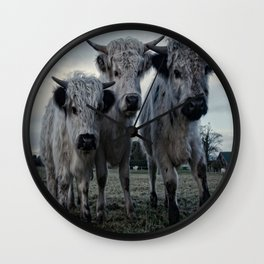 The Three Shaggy Cows Wall Clock