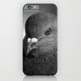 City Bird Pigeon BW iPhone Case