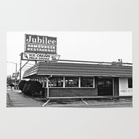 hamburger Area & Throw Rugs featuring Jubilee Hamburger Restaurant by Vorona Photography