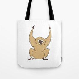 Two Fucks Gibbon Tote Bag