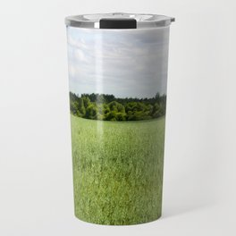 agricultural field of oat Travel Mug