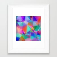 stained glass Framed Art Prints featuring Stained Glass by Stuff.