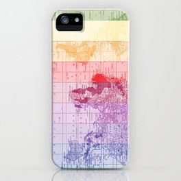 Rainbow World Map iPhone Case