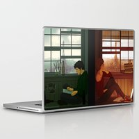 enjolras Laptop & iPad Skins featuring Enjolras & Grantaire by rdjpwns