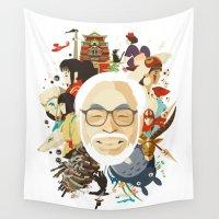 miyazaki Wall Tapestries featuring Miyazaki-San by Danny Haas