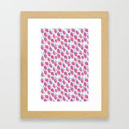 Summer Strawberries Framed Art Print
