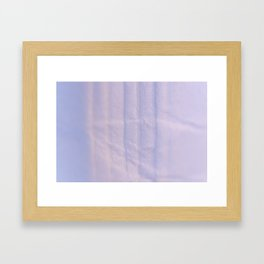 Crumpled Lines on Lilac Paper Texture Framed Art Print