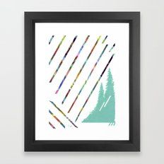 Green & Brown Framed Art Print