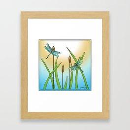 Dragonflies Fly Framed Art Print