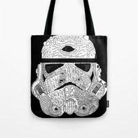 gore Tote Bags featuring Gore Trooper Blk/Wht by Josh Ln