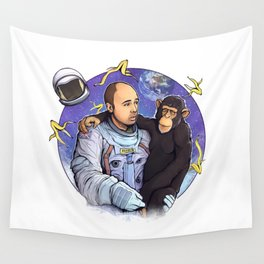 Karl Pilkington - An Idio In Space Wall Tapestry